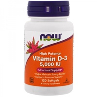 NOW Vitamin D-3 5000 ME (120 капс)