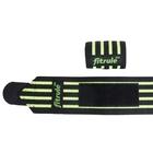Бинты кистевые FitRule Medium черн-зел (50 см)